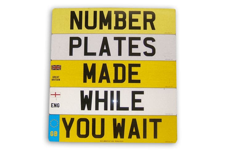 Number Plates While-U-Wait